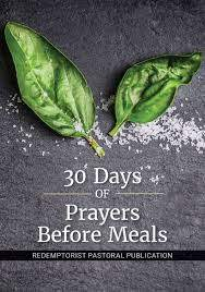 30 Days of Prayers Before Meals